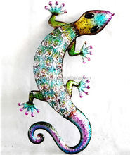 iron wall hanging decoration Metal Gecko And Lizard