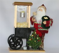 XM-CH1554 20 Inch santa with popcorn car for christmas decoration