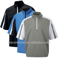 2013 Windproof Short Sleeve Golf Jacket 1/2 Zip Wind Top