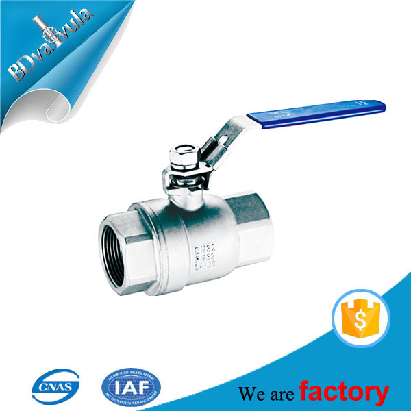 1000 WOG BSP SS 304 SS 316 2 pieces ball valve with locking device