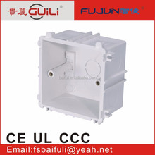 top quality 3 gang pvc electrical switch box electrical wiring trunking solt box conduit box
