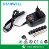 Newest CE approved US UK EU plug multi tips 5V 9V 12V universal switching power adapter