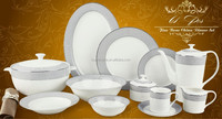 royal dinner set new bone china ,61 pcs melamine dinner set,porcelain dinner set