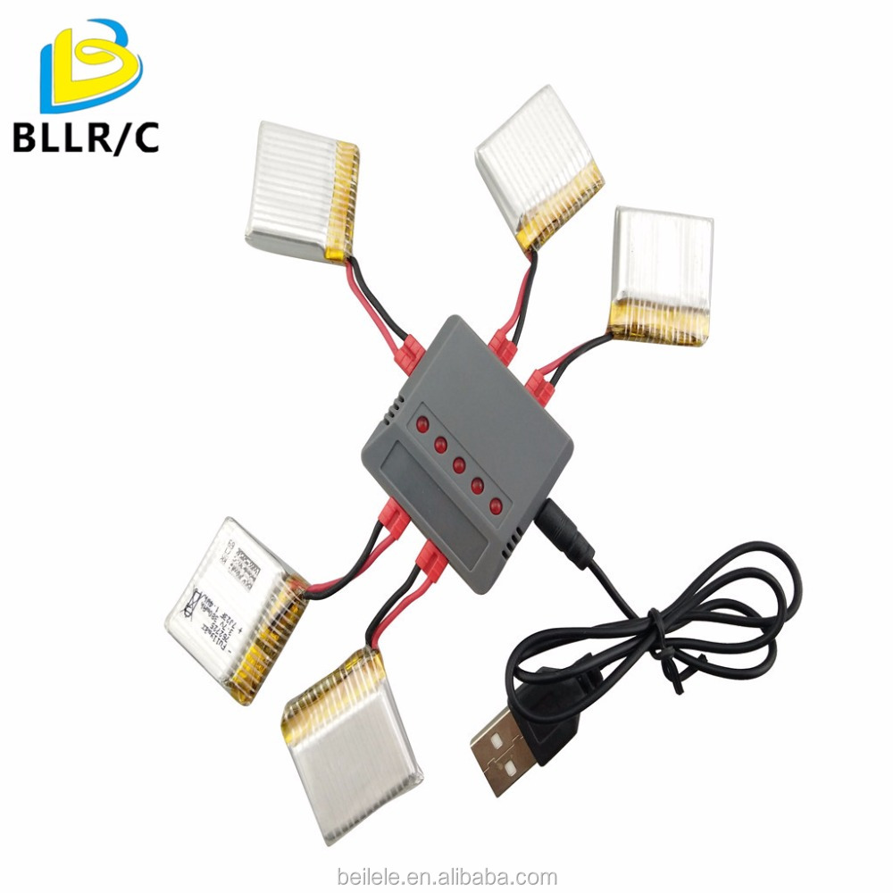 1 carry 5 balanced adapter with 5PCS 3.7V 380mah rechargeable lipo <strong>battery</strong> for syma x21 x21w x26 D15 <strong>X100</strong> rc drone <strong>battery</strong>