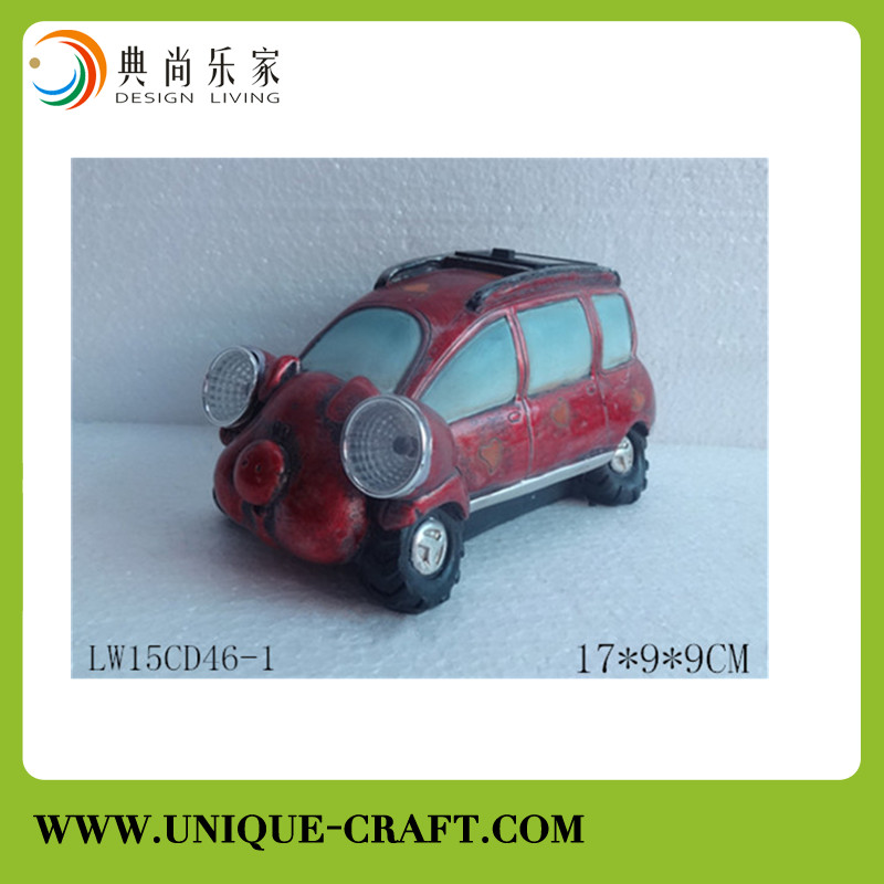 Home decoration resin craft,lovely car statues