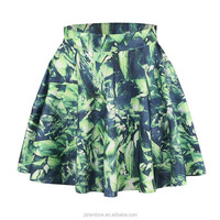 in stock digital print short pleated skirt girls hot sex images sexy photo
