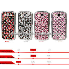 Leopard Grain PC Hard Cell Phone Case Cover For Samsung Galaxy S3 I9300