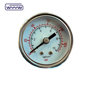 dual air ss304 pressure gauge back mount