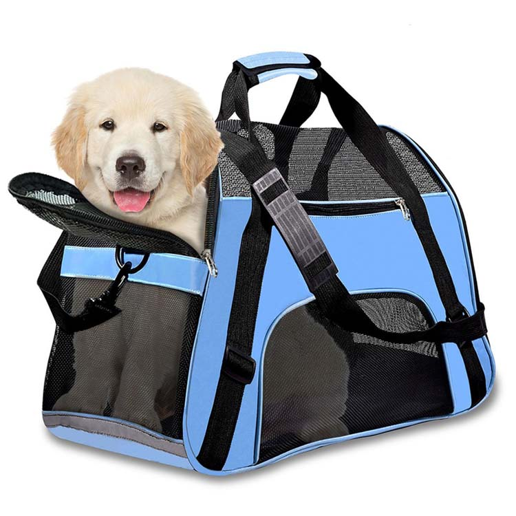 Direct Manufacturer New Design mesh Pet Dog Soft Sided Travel Carrier Bag