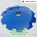 Tractor implements boron disc blades for disc ploughs and harrow