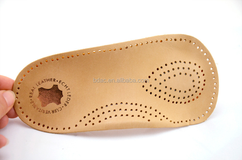 3/4 latex genuine leather half insole as orthopedic insole orthopaedic insole