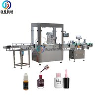Low price two nozzles automatic nail polish filling, plugging in and capping machine