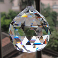 Clear crystal ball prism for hanging chandelier lamp accessories