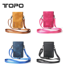 Double Zipper Slot Wallet Flip Lady Leather Coin Cell Phone Case Mobile Pouch Mini Shoulder Bag For iPhone X 6 7 8 For samsung