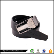 Black leather belt for male