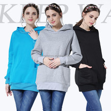 Wholesale Emotion Moms Plus Size Maternity Breastfeeding Hoodie Nursing clothes Pregnant Jumper