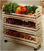 Hot sale cheap wooden vegetable display rack for supermarket