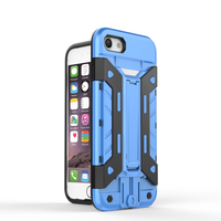 Three-Layer Hybrid Defender Case Cover With Kickstand mecha case For iPhone 7