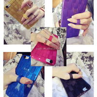 High quality frosted TPU finger grip mobile phone case for Samsung galaxy S 3 4 5 Note 2 3 4