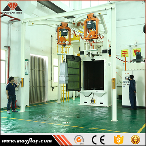 MAYFLAY Small Used Abrator Hook Hanger Type Blaster Lpg Cylinder Blast Equipment Price Blastrac Shot Blasting Machine