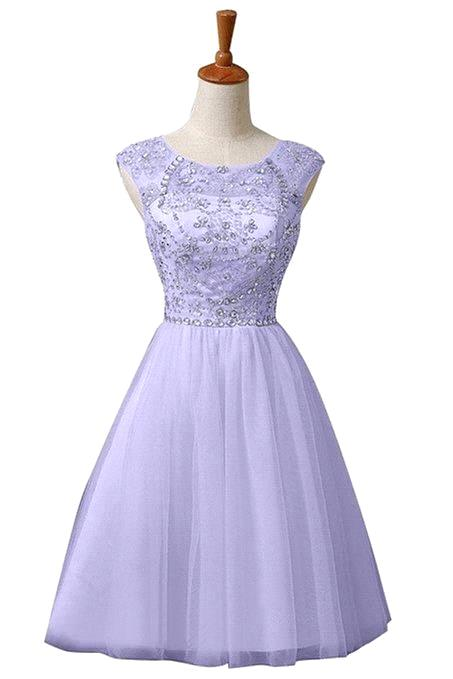 Buy Semi Formal Dress 2015 A Line O Nekck Cap Sleeve Beaded