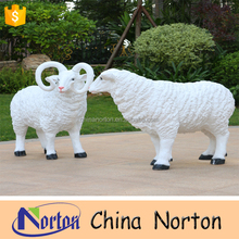Customized cheap animal figurines statues life size resin sheep NT-FSB155