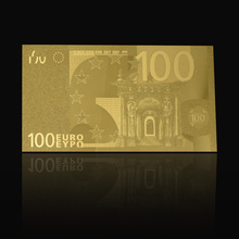 100 Euro 24k Gold Plated Paper Money Banknote for Collection