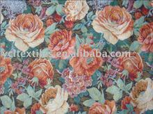Polyester/cotton tapestry woven jacquard sofa or curtain fabric