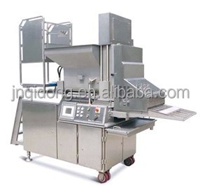 CE approved commercial chicken nuggets making machine/burger machinery patties