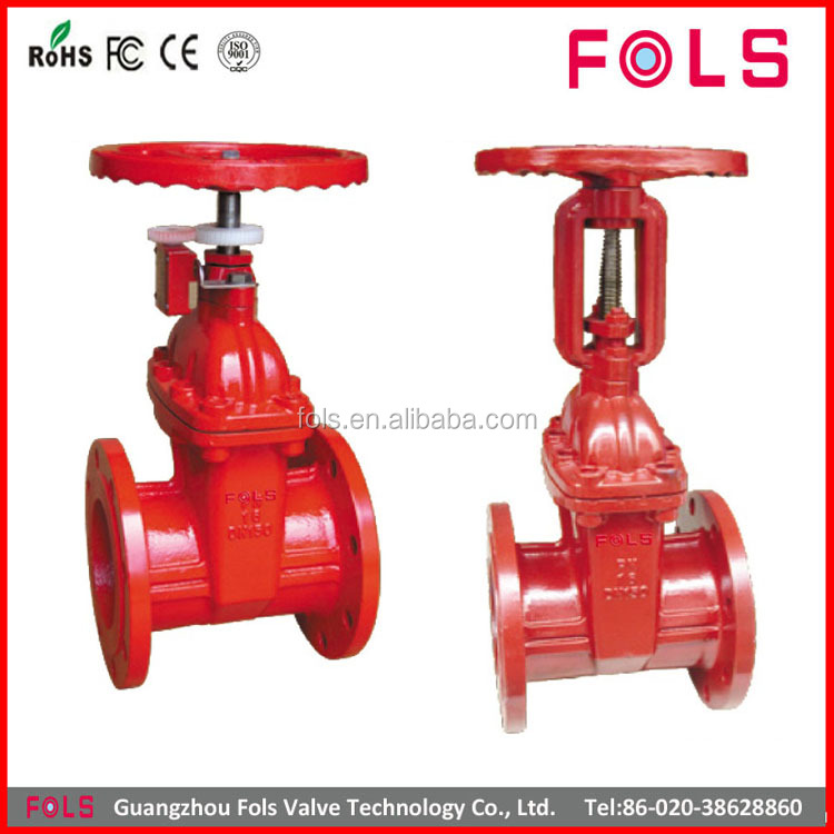 High quality non rising stem cast iron fire protection gate valve