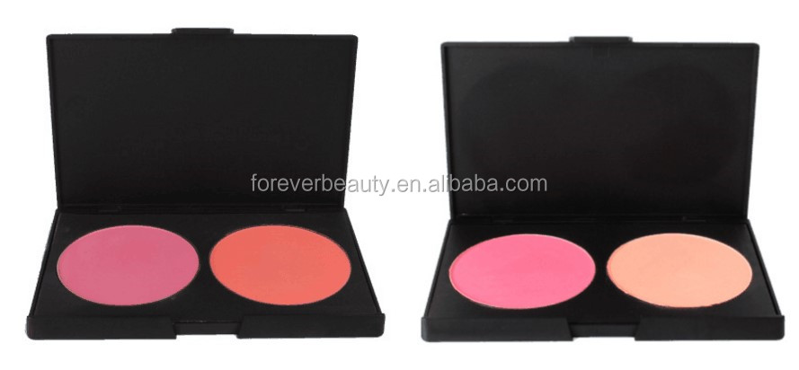 Directly factory sale matte makup blusher powder palette 2 color waterproof professional no logo blush
