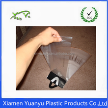 Transparent custom logo designed plastic wicketted bakery/food/food packing bag.