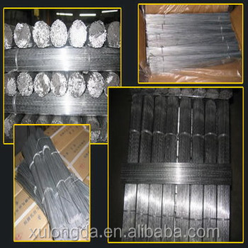 Straight cut wire electro galvanized wire