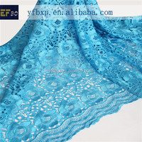 100% polyester materials embroidery water soluble lace/ indian embroidery fabric/ austrian lace for wedding dresses