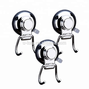 2018 Amazon Best Seller Stainless Steel Vacuum Suction Cup Hooks and Loop Wall Mounted Metal Hanger Coat Hook