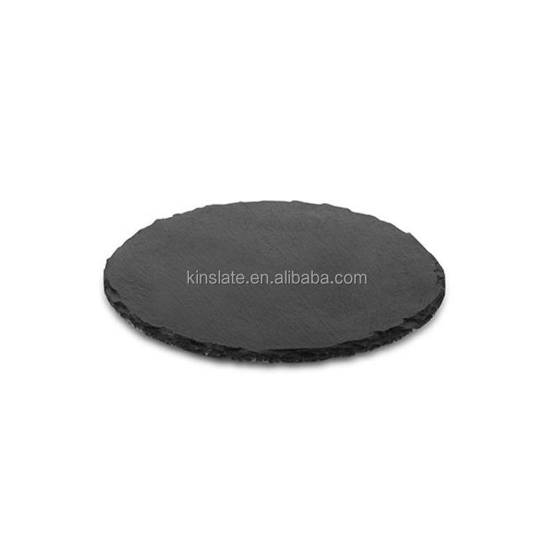 factory direct wholesale round slate platter serving tray for homeware