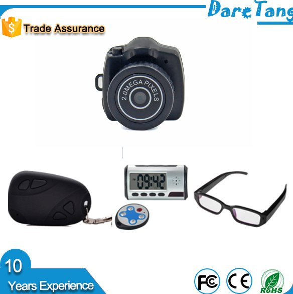 High quality Sample supply 640*480 resolution video and picture record Y2000 wireless mini bluetooth CCTV hidden camera