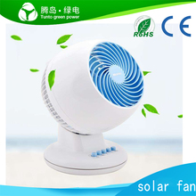 Outdoor Camping Hunting portable rechargeable solar power mini fan with led light