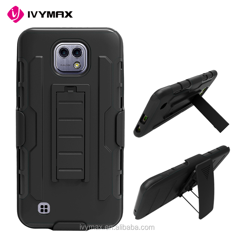 IVYMAX wholesale used mobile phones protective 3 in 1 phone case for LG X CAM K580