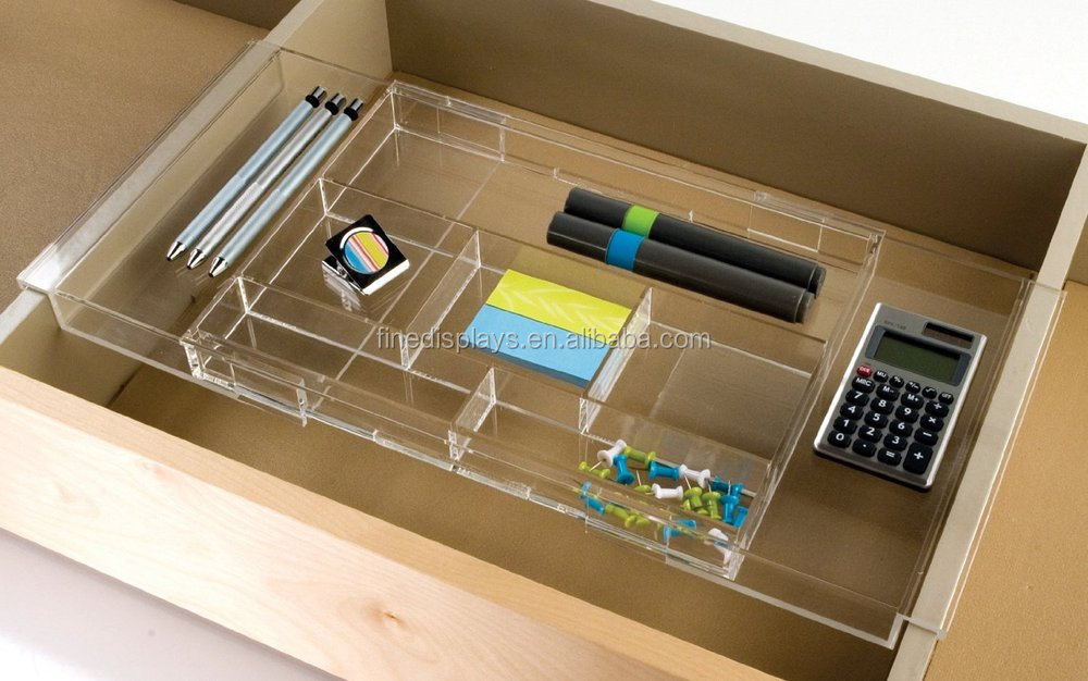 Expandable acrylic office drawer organizer cd a 296 - Acrylic desk drawer organizer ...