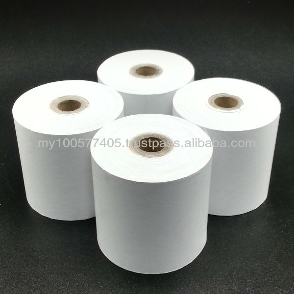 High Quality Extra White Woodfree Receipt Roll 76mm width
