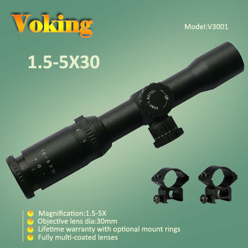 Voking/OEM 1.5-5X30 riflescope hunting accessories China wholesale riflescope