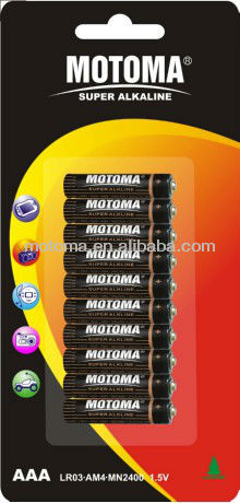 High Power LR03 AAA AM4 1.5V Alkaline battery High Power dry batteries