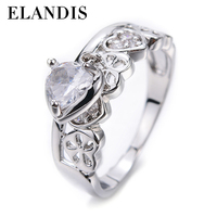 E-ELANDIS Hot new products for couple rings heart-shaped combination zircon ring