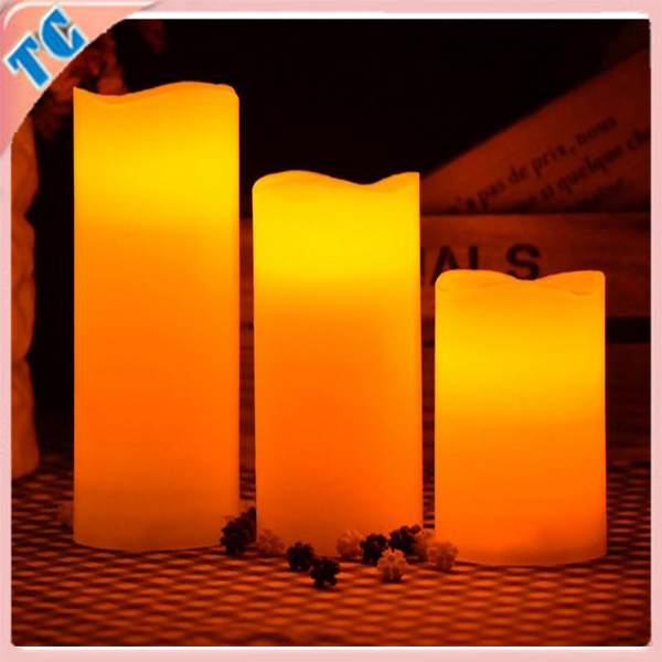 Fashion Blowing control wax candle,led music candle,pillar candle make in China