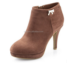 Brown shoes high quality platform boots 2016 winter shoes fashion ladies winter boots leather womens boots