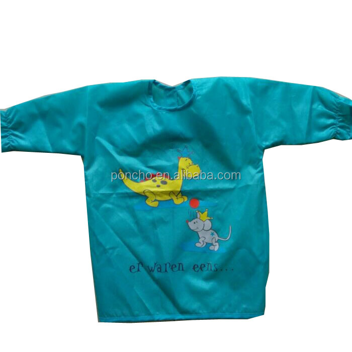 Quality custom cheap hot sales kids waterproof pvc apron/drawing apron