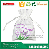 Recyclable promotional organic small cotton drawstring bag