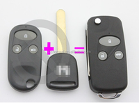 Horande auto key blank for Honda 3 buttons modified remote key shell cover