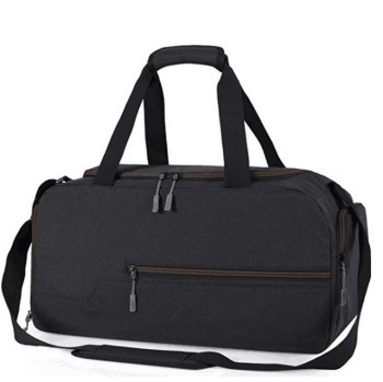 Water resistant polyester sports gym travel weekender tote duffel bag